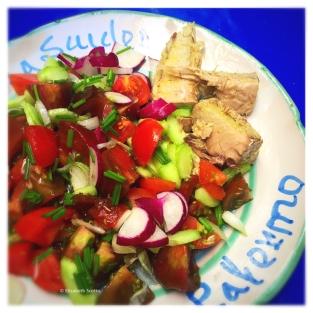 Bonite à l'huile salade