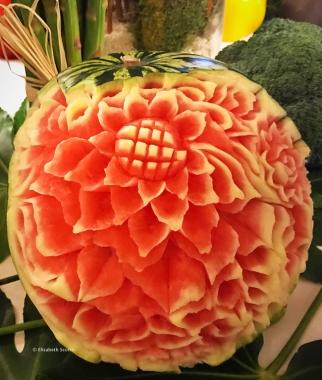 Pastèque décoré