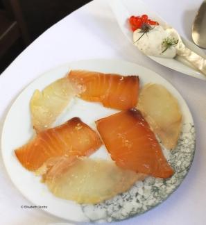 Saumon, eglefin